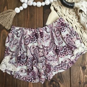 Boom Boom Jeans | Paisley Crochet Lace Shorts